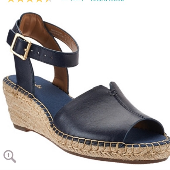 05fbae43894 Clarks Shoes - Clark Espadrilles Navy Petrina Selma Wedge 9.5
